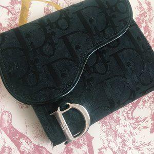 dior vintage saddle monogram trotter black wallet